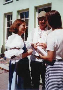 Frau Wolle und Herr Lüders im Gespräch